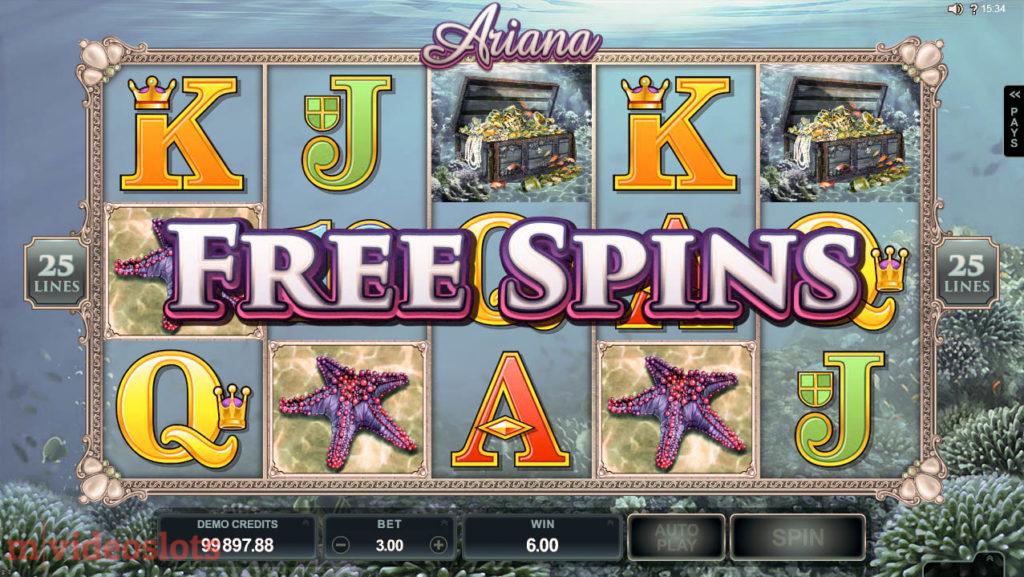 Ariana Microgaming Mobile Video Slot - Free Spins Bonus win