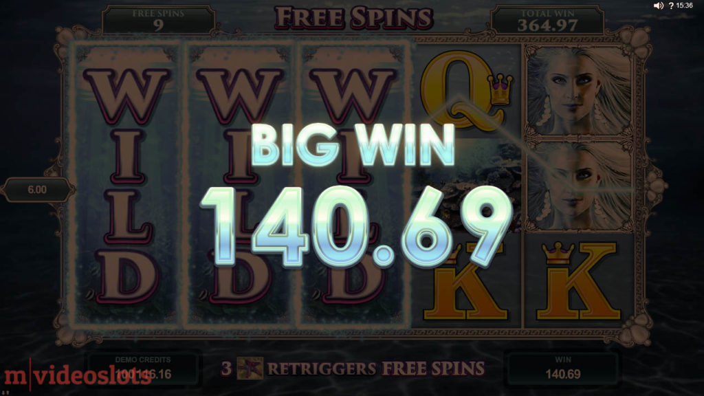 Ariana Microgaming Mobile Video Slot - Free Spins feature win 70x total stake