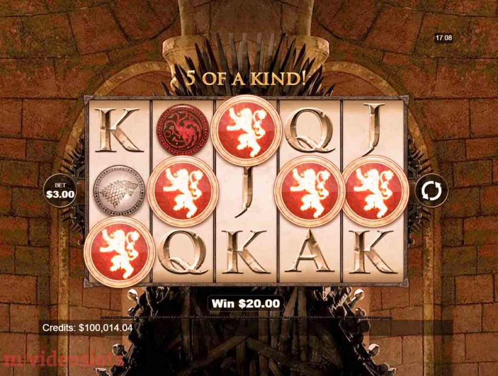 Play Game of Thrones mobile slot