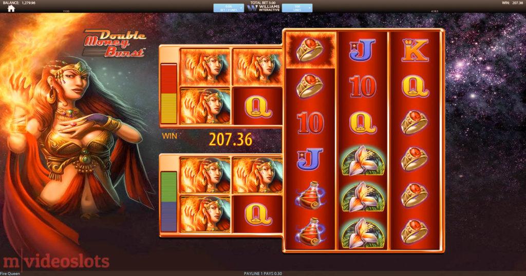 Fire Queen Williams Interactive (SG Interactive) mobile video slot - Mega Big Win!
