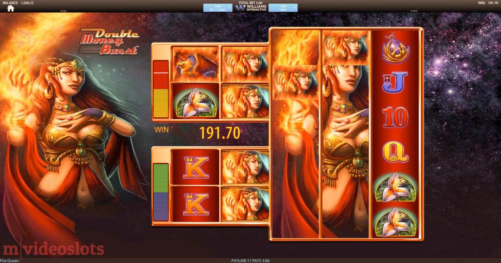 Fire Queen Williams Interactive (SG Interactive) mobile video slot Big Win!