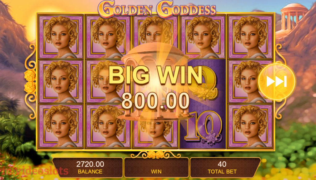 Golden Goddess IGT mobile video slot Big Win #2