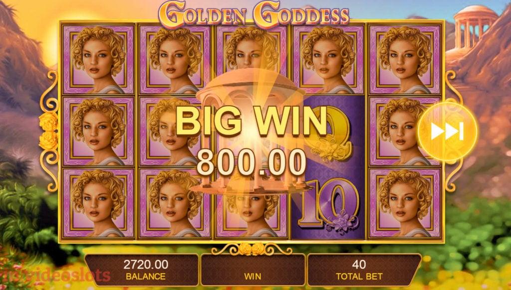 Golden Goddess IGT mobile video slot Big Win #2