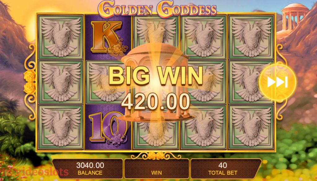 Golden Goddess IGT mobile video slot Big Win #3