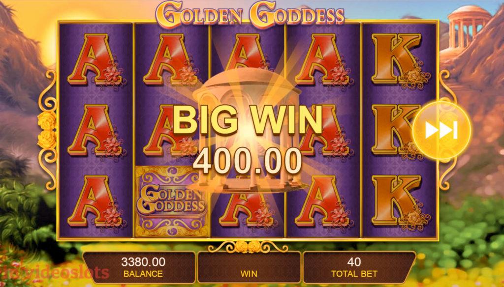 Golden Goddess IGT mobile video slot Big Win #4