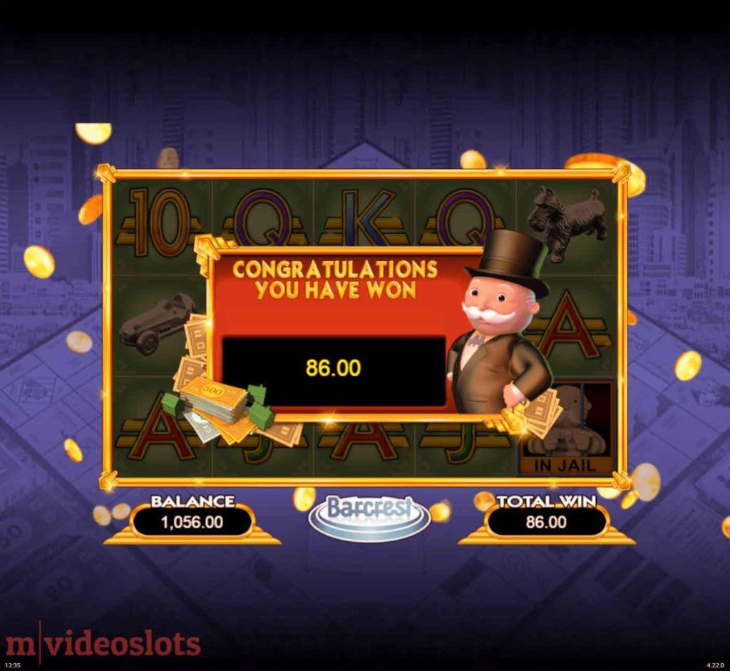 Win Free Spins playing Monopoly Big Event.