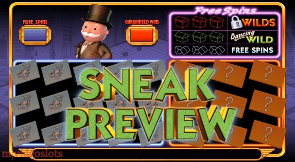 Monopoly Big Event WMS mobile video slot Sneak Preview