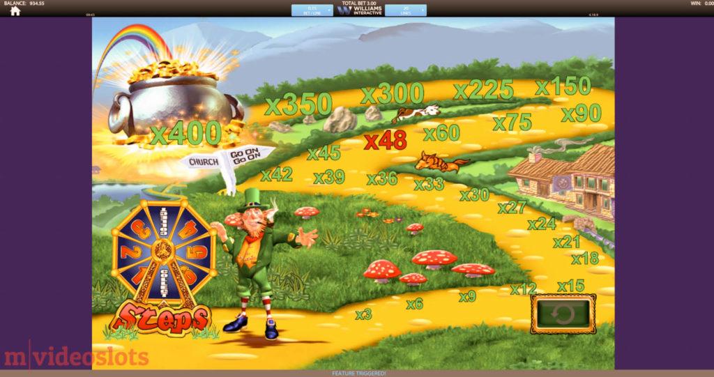 Rainbow Riches slot Road to Riches bonus.
