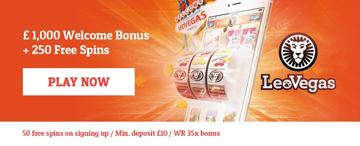 £1,000 Welcome Bonus + 200 Free Spins at LeoVegas.