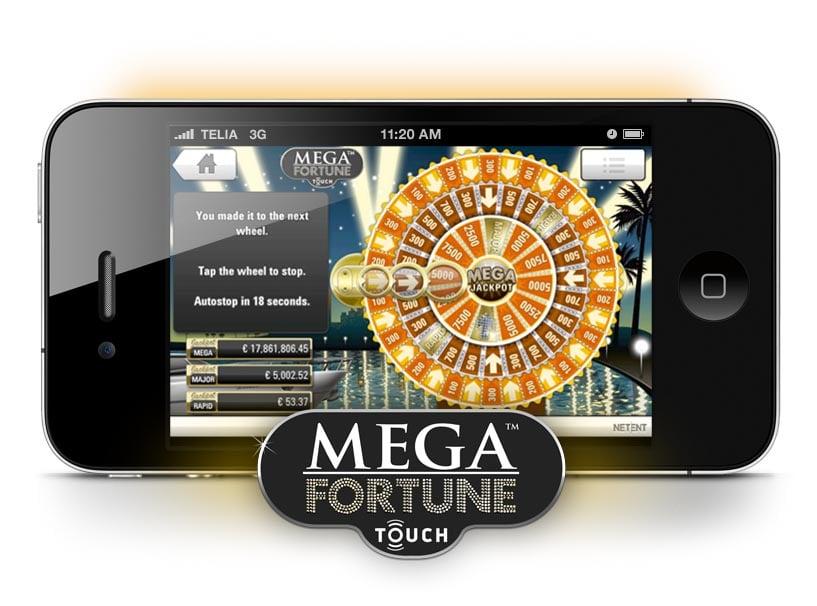 Mega Fortune NetEnt Touch Mega Jackpot wheel.