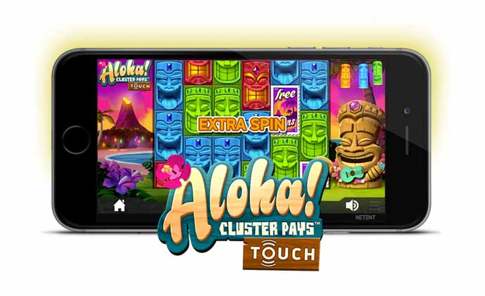 Aloha Cluster Pays mobile slot review.