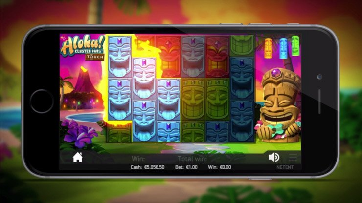 Aloha Cluster Pays mobile slot free spins.