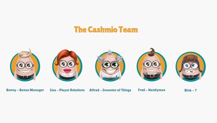 Cashmio customer support and casino team.