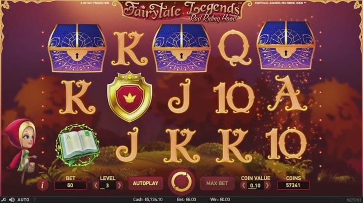 Fairytale Legends Red Riding Hood bonus.