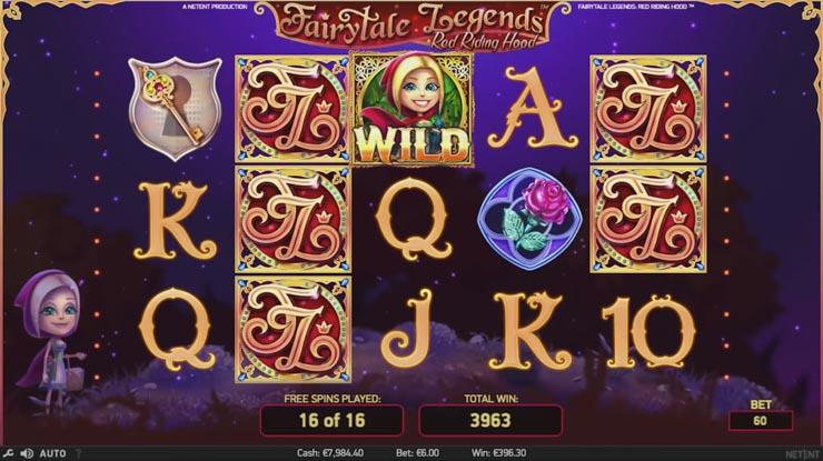 Fairytale Legends slot Free Spins bonus.