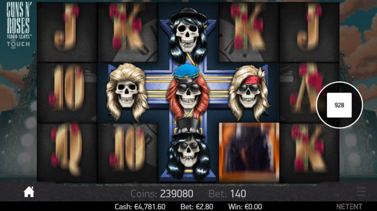 GNR slot's The Appetite for Destruction Wild in action.