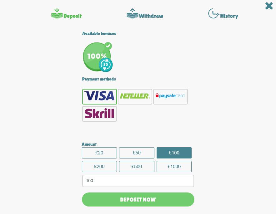 Cashmio payment options.