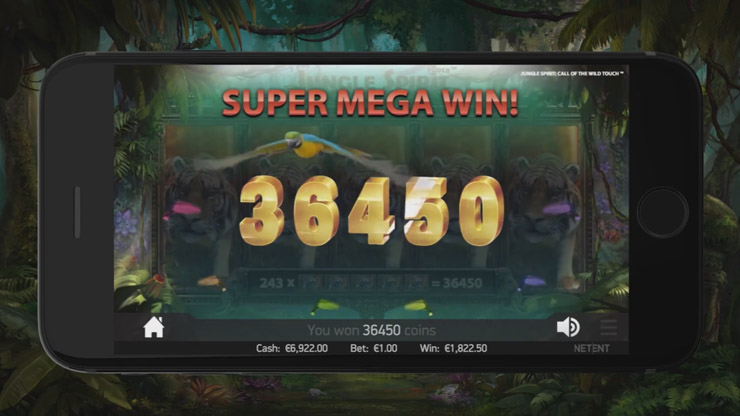 Play Jungle Spirit NetEnt slot from March 2017.
