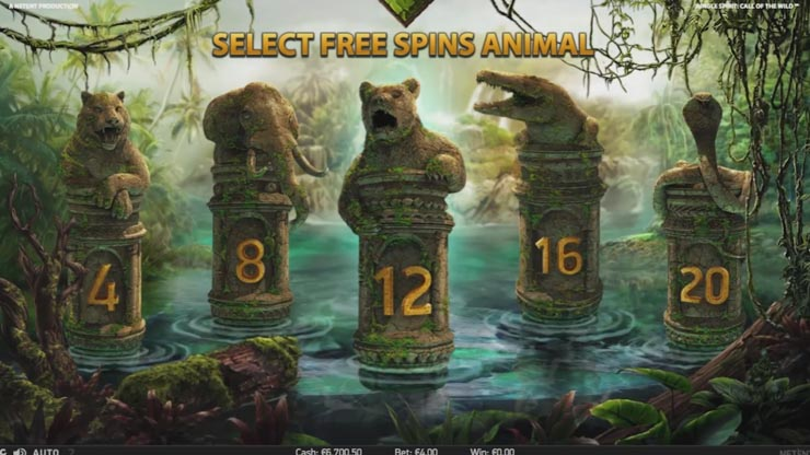 Choose between 4 and 20 Free Spins, from high to low risk.