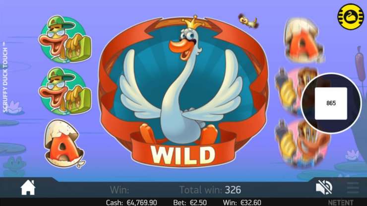 Scruffy Duck mobile slot Colossal Wilds.