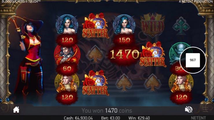 Free Spins bonus in Blood Suckers 2 Touch.