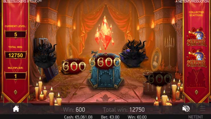 Hidden Treasure Bonus, pick-and-win feature.