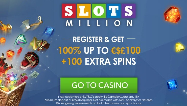 SlotsMillion Casino welcome bonus.