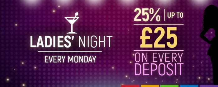 Ladies' Night promotion at SlotsMillion Casino.