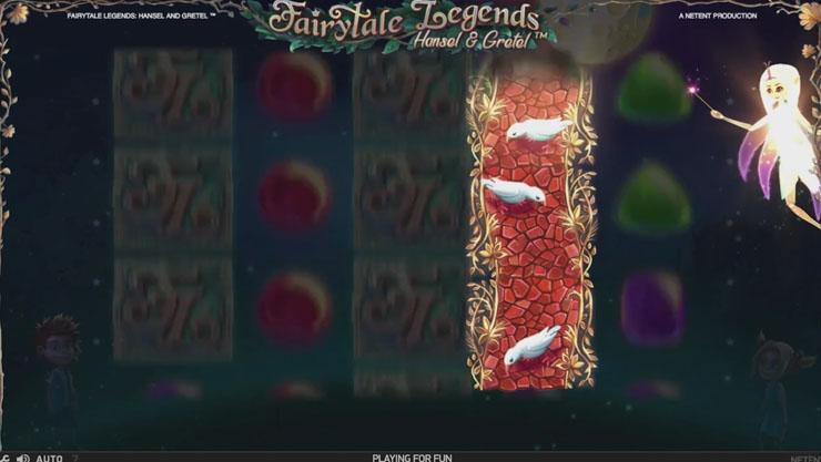 Hansel & Gretel mobile slot Fairy Wild Spins feature.