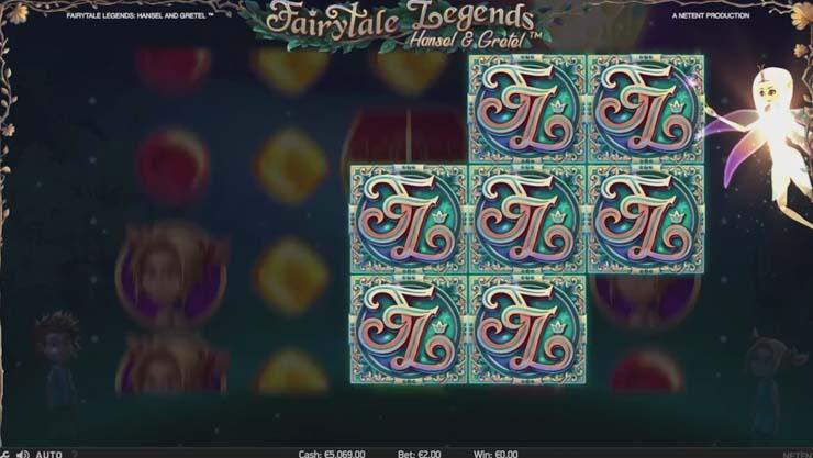Hansel & Gretel mobile slot Fairy Wonder Spin bonus.