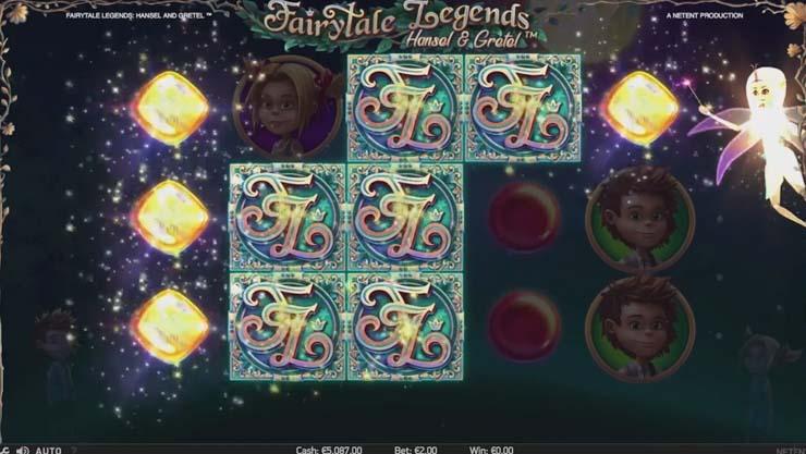 Fairy Surprise bonus in NetEnt's Hansel & Gretel slot.