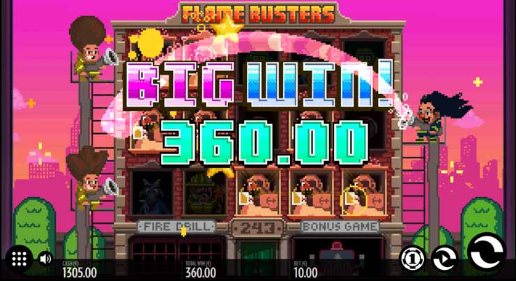 Flame Busters slot release date and Big Win.