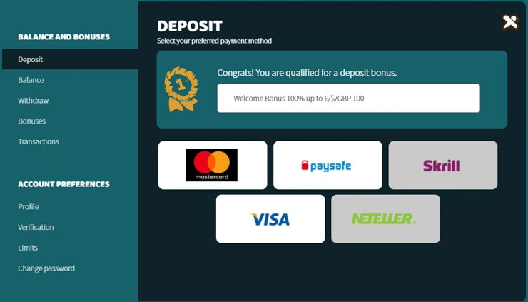 Ikibu casino banking and payment methods.
