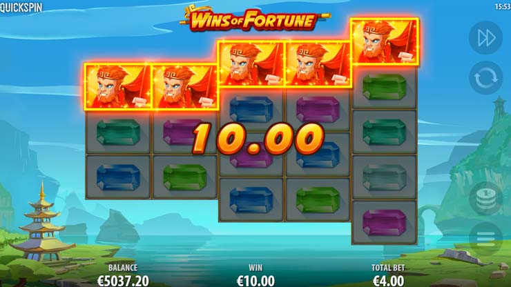 Wins of Fortune mobile slot by Quickspin.