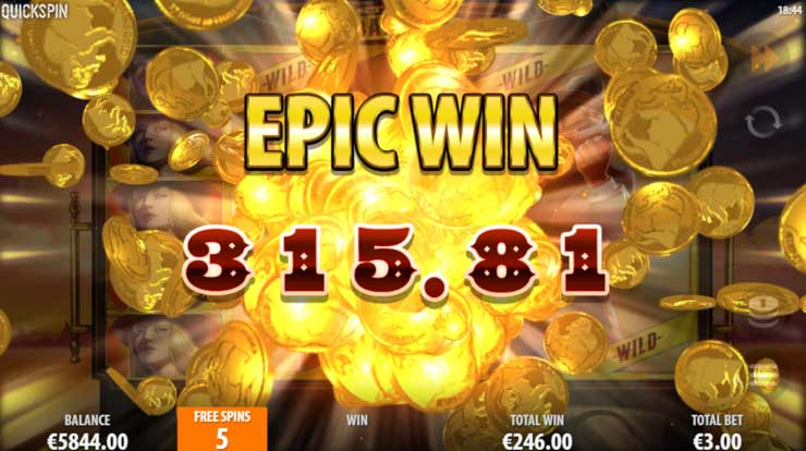 Win up to 739x your total bet in Quickspin's Sticky Bandits slot.