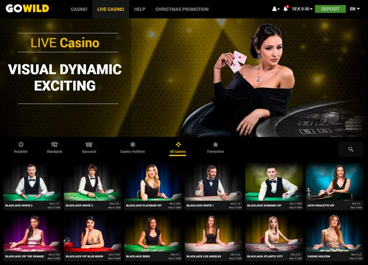 GoWild Live Casino -- Immersive Roulette by Evolution.