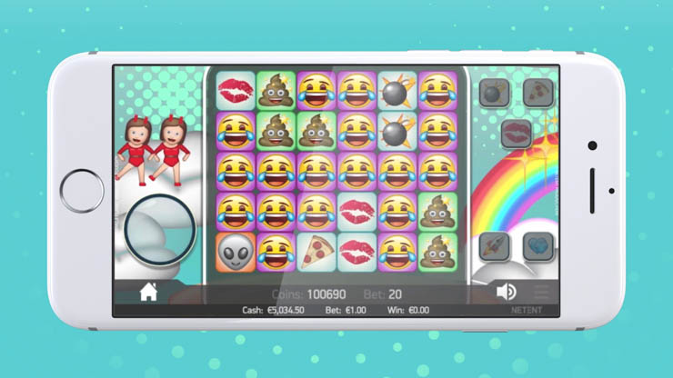 Emojiplanet mobile slot base game.