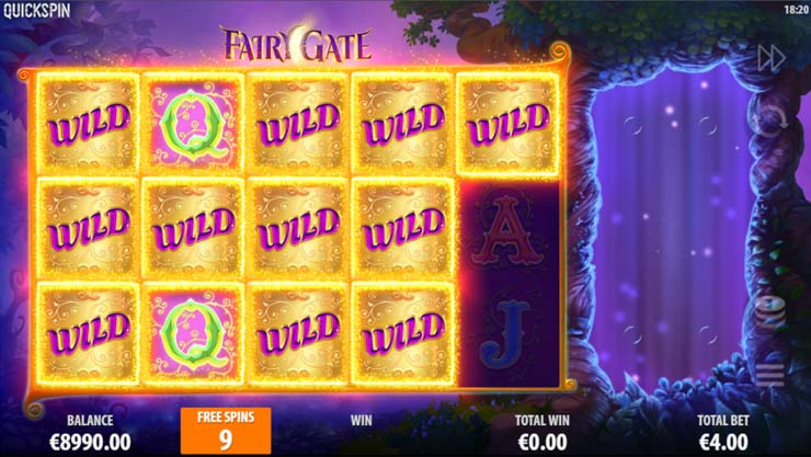 Fairy Gate Big Win with extra wild icons.