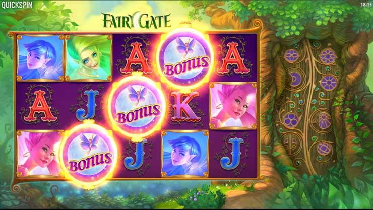 Fairy Gate Free Spins bonus game.