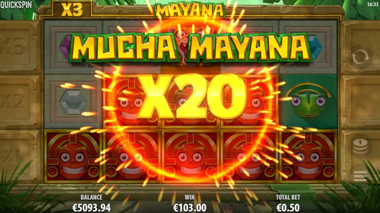 Mucha Mayana mega multiplier on the final re-spin.