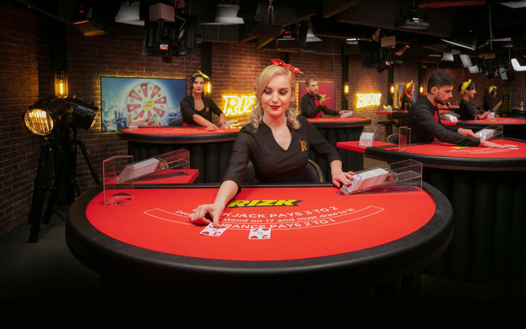 Rizk Live Casino by Evolution Gaming.