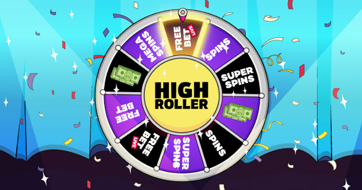 Spin the Highroller Wheel for guaranteed prizes.