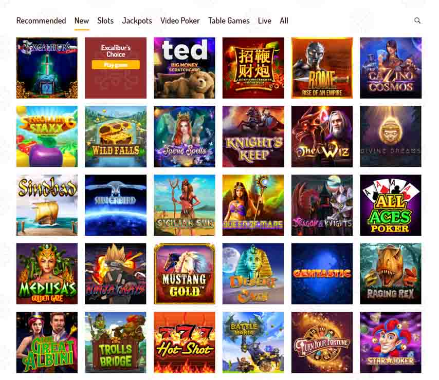Karjala Casino games and video slots.