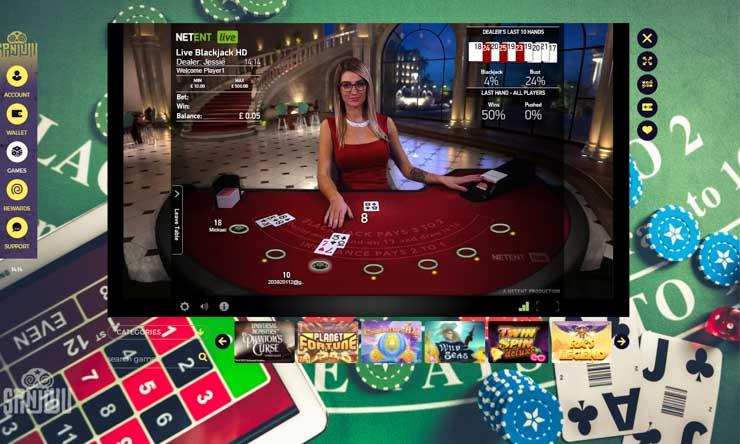 SpinJuju Live Casino.