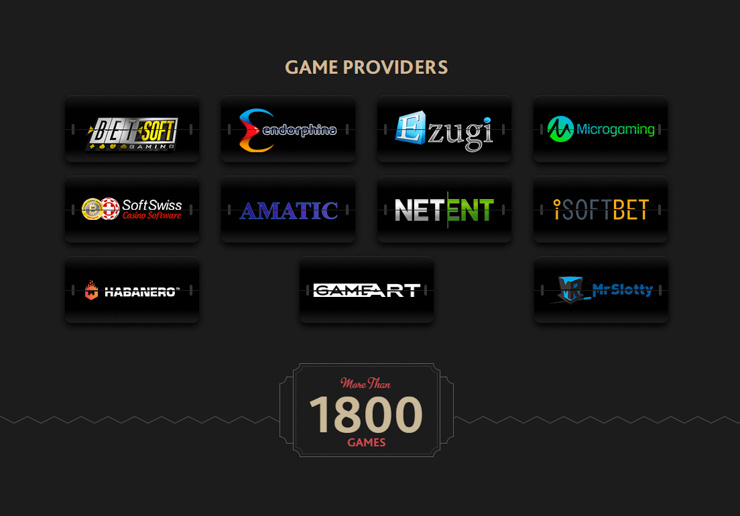 7Bit Casino games and software providers.