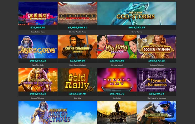 Bet365 Casino games by Playtech and Quickspin.