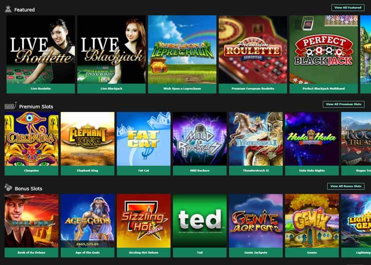 Bet365 Games lobby.