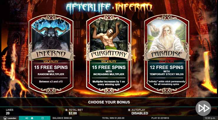 Afterlife Inferno slot by Leander Games.