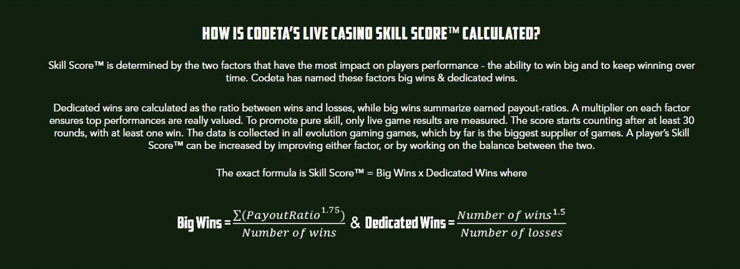 Codeta Skill Score feature explained.