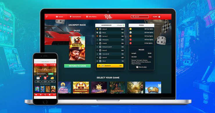 Rolla Casino on desktop and mobile.